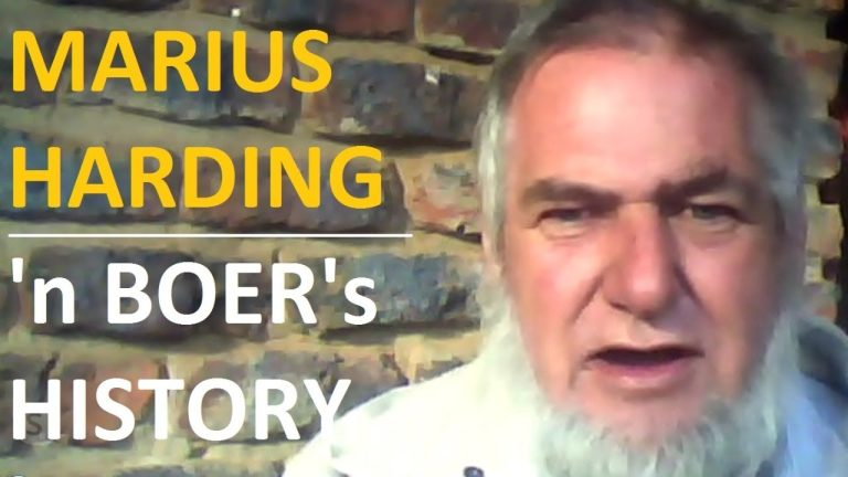 LIVE: Straight talking by a boer, Marius Harding in South Africa