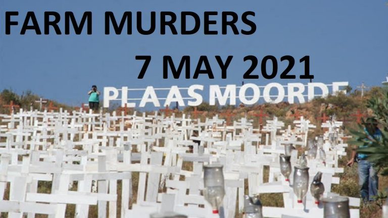 Join Petrus Sitho on his protest about farm attacks and murders – 7 May 2021