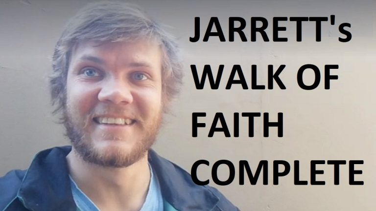 LIVE: Jarrett's Walk of Faith complete | Cape Town, South Africa
