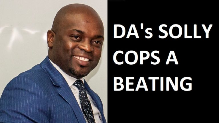 Democratic Alliance's Solly Msimanga lands up on the wrong end of a fisticuffs | South Africa