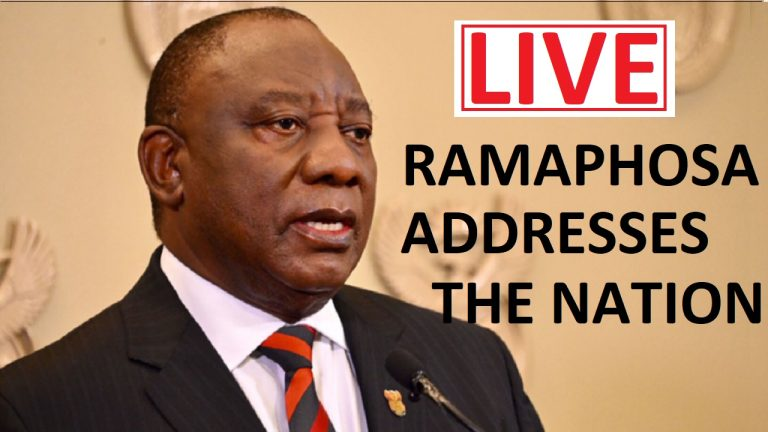 LIVE: President Cyril Ramaphosa addresses the nation from 8 PM | South Africa