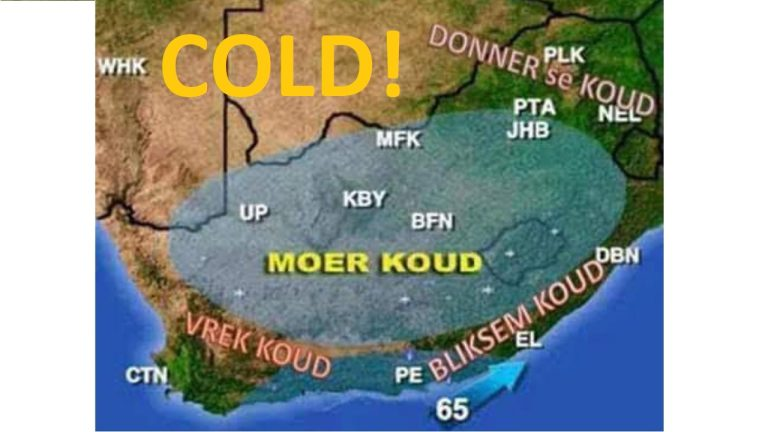 Interior of South Africa faces brutal cold weather