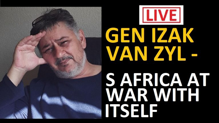 LIVE: General Izak van Zyl – Boerelegioen – South Africa on a knife edge. Izak will join me at 7.30pm – we will listen to Ramaphosa's speech at 8pm and then discuss after his speech