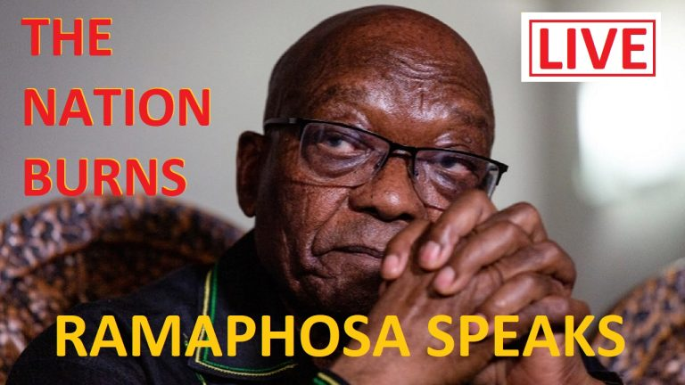 LIVE: President Cyril Ramaphosa addresses the nation over the spreading chaos in  South Africa