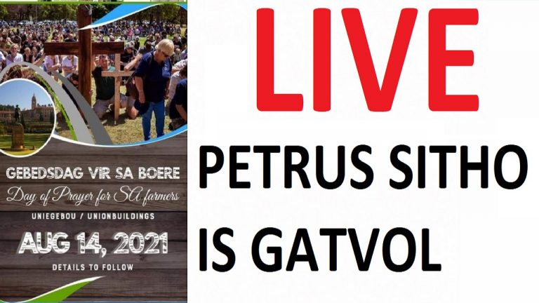 LIVE: Prayer Day in Pretoria over farm murders – featuring Petrus Sitho | South Africa