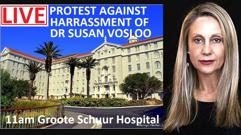 LIVE: Protest outside Groote Schuur Hospital in support of Dr Susan Vosloo