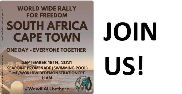 LIVE: World Wide Rally for Freedom – various cities in South Africa