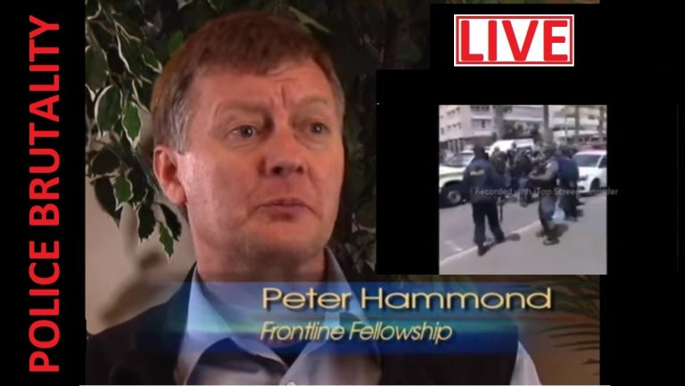 LIVE: Dr Peter Hammond on the increasing police violence in South Africa and elsewhere