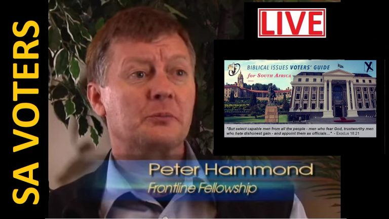 LIVE: Dr Peter Hammond provides Christians a guide to who and who not to vote for 1 November | South Africa