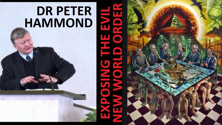Dr Peter Hammond talks about the NWO and the covid scam